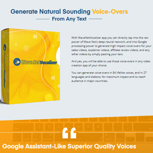 Wavenetvocalizer Voice-Over Software