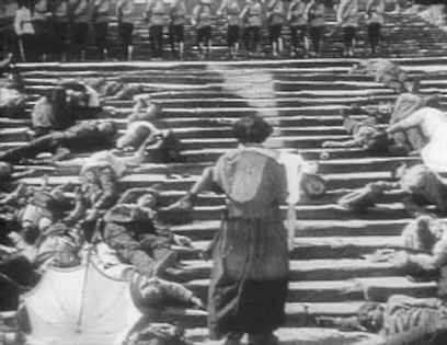 odessa steps sequence The best known sequence of the film is set on the odessa steps, connecting the  waterfront with the central city a detachment of dismounted cossacks forms a.